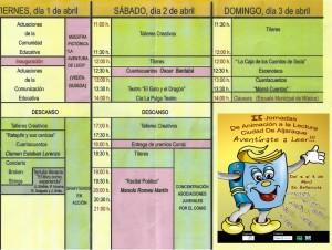 II jornada de Animación a la Lectura Ciudad de Aljaraque (Huelva)